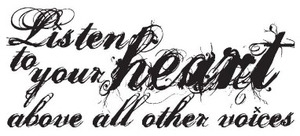 Tim Holtz Rubber Stamp LISTEN To Your Heart Stampers Anonymous P6-1216