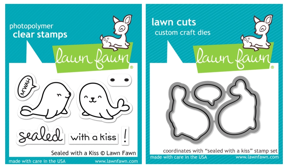 Lawn Fawn SET LF17SETSK SEALED WITH A KISS Clear Stamps and Dies zoom image