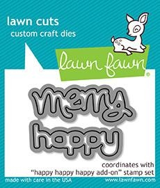 Lawn Fawn HAPPY HAPPY HAPPY ADD-ON Lawn Cuts LF1479