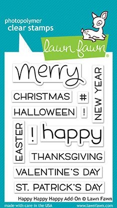 Lawn Fawn HAPPY HAPPY HAPPY ADD-ON Clear Stamps LF1478 Preview Image
