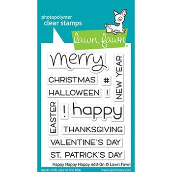 Lawn Fawn HAPPY HAPPY HAPPY ADD-ON Clear Stamps LF1478