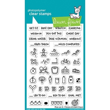 Lawn Fawn PLAN ON IT: FITNESS Clear Stamps LF1483