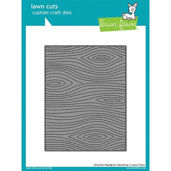 Lawn Fawn STITCHED WOODGRAIN BACKDROP Lawn Cuts LF1501