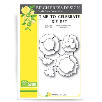 Birch Press Design TIME TO CELEBRATE Craft Die 58119