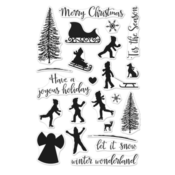 Hero Arts Clear Stamps WINTER SILHOUETTES CM179