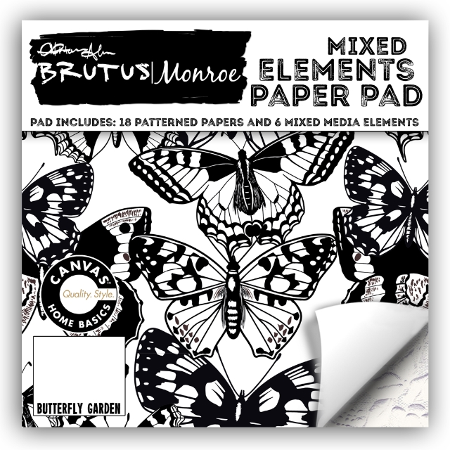 Brutus Monroe MIXED ELEMENTS BUTTERFLY GARDEN 6x6 Paper Pad BRU4189 zoom image