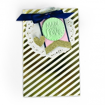 Sizzix TAG MADE WITH LOVE Bigz Die with Textured Impressions 661987