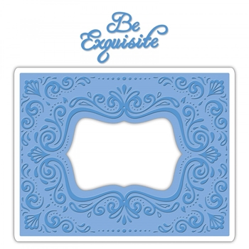 Sizzix AQUARIUS FRAME Impresslits Cut and Emboss Folder 661952