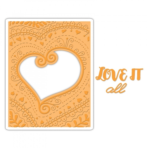 Sizzix BOHEMIAN HEART Impresslits Cut and Emboss Folder 661953 Preview Image