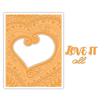 Sizzix BOHEMIAN HEART Impresslits Cut and Emboss Folder 661953