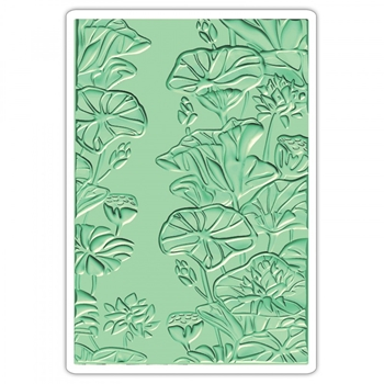 Sizzix Textured Impressions LILY POND 3D Embossing Folder 661950