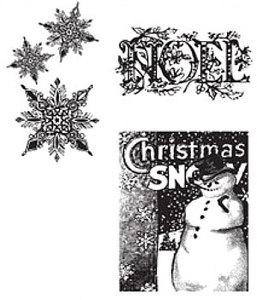 Tim Holtz Cling Rubber Stamps WINTER WONDER Stampers Anonymous CMS033
