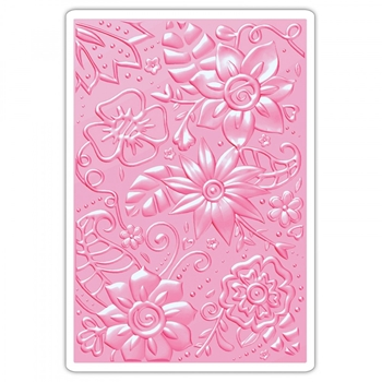 Sizzix Textured Impressions BOHEMIAN BOTANICALS 3D Embossing Folder 661948
