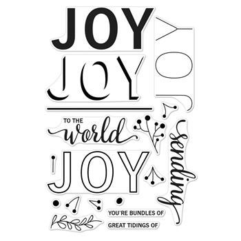 Hero Arts Clear Stamps Color Layering JOY MESSAGE CM186