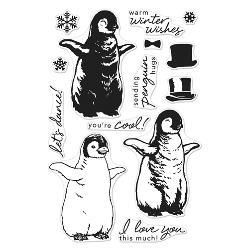 Hero Arts Clear Stamps Color Layering BABY PENGUIN CM188 Preview Image
