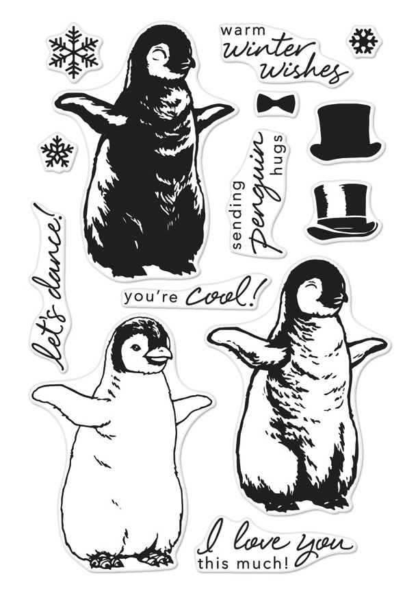 Hero Arts Clear Stamps Color Layering BABY PENGUIN CM188 zoom image