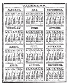 Tim Holtz Rubber Stamp CALENDAR Stampers Anonymous M2-1287 Preview Image