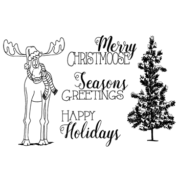 Joy Clair MERRY CHRISTMOOSE Clear Stamp Set CLR-02087
