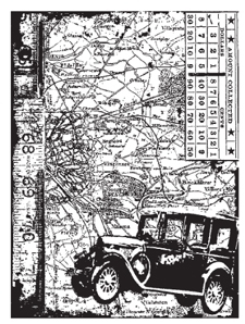 Tim Holtz Rubber Stamp CAR COLLAGE Stampers Anonymous P4-1304 zoom image