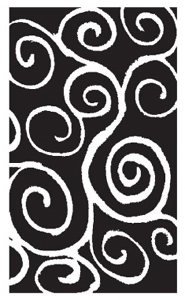 Tim Holtz Rubber Stamp CARVED SWIRL Stampers Anonymous P5-1127