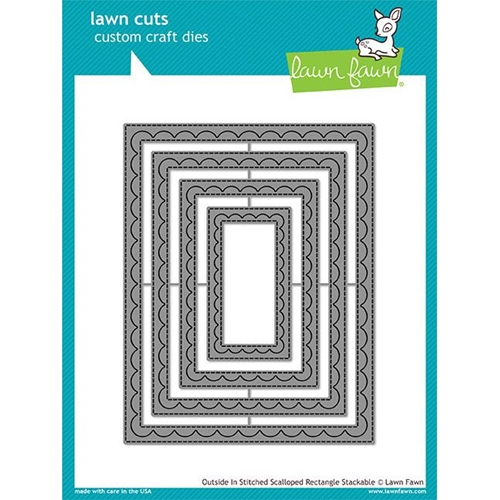 Lawn Fawn OUTSIDE IN STITCHED SCALLOPED RECTANGLE STACKABLES Lawn Cuts LF1505 Preview Image