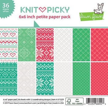 Lawn Fawn KNIT PICKY 6x6 Inch Petite Paper Pack LF1529