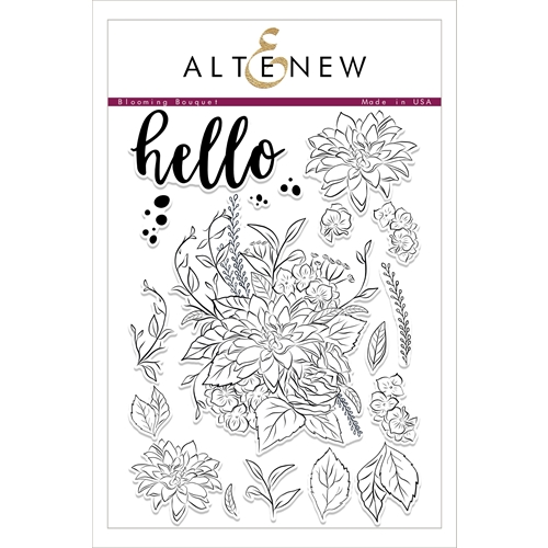 Altenew BLOOMING BOUQUET Clear Stamp Set ALT1752 Preview Image