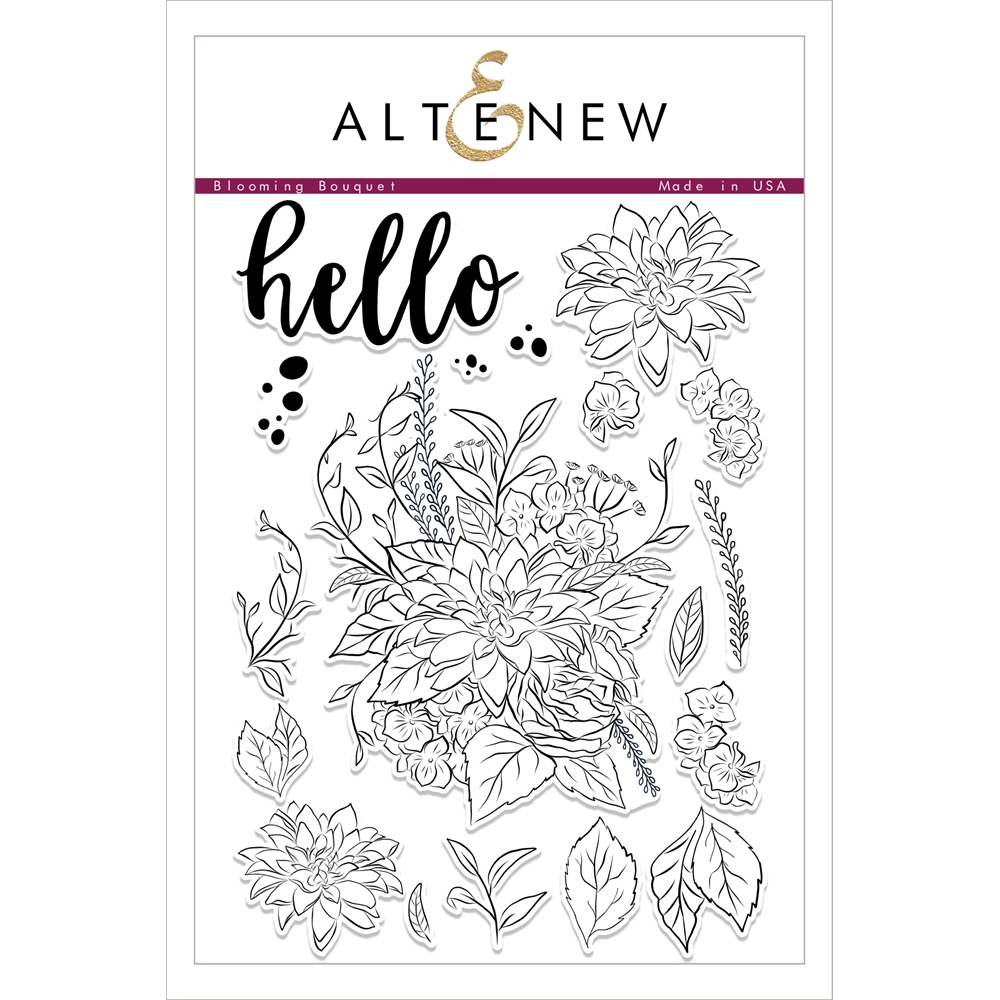 Altenew BLOOMING BOUQUET Clear Stamp Set ALT1752 zoom image