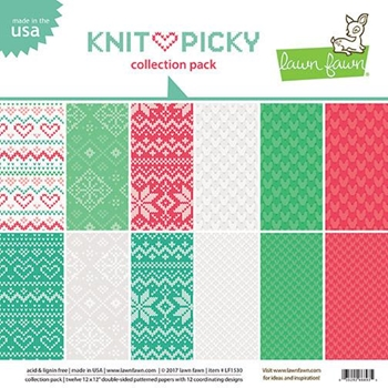 Lawn Fawn KNIT PICKY 12x12 Inch Collection Pack LF1530