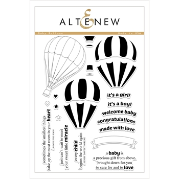 Altenew BABY BALLOON Clear Stamp Set ALT1751