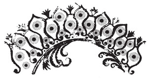 Tim Holtz Rubber Stamp DOTTED PLUME Stampers Anonymous U3-1190