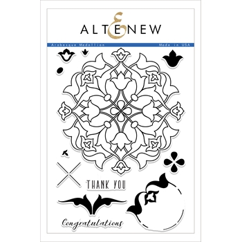 Altenew ARABESQUE MEDALLION Clear Stamp Set