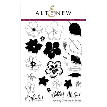 RESERVE Altenew TOTALLY TROPICAL Clear Stamp Set