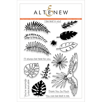 RESERVE Altenew PARROT PARADISE Clear Stamp Set