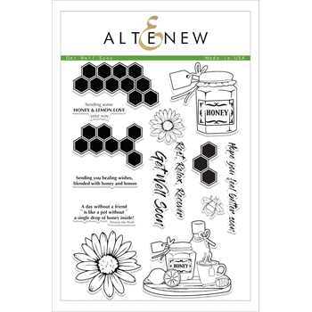 RESERVE Altenew GET WELL SOON Clear Stamp Set
