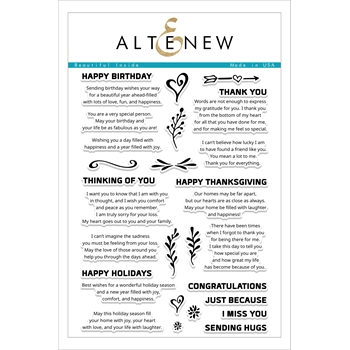 RESERVE Altenew BEAUTIFUL INSIDE Clear Stamp Set