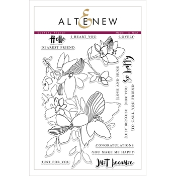 Altenew SKETCHY FLORAL Clear Stamp Set