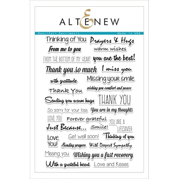 RESERVE Altenew HEARTFELT SENTIMENTS Clear Stamp Set