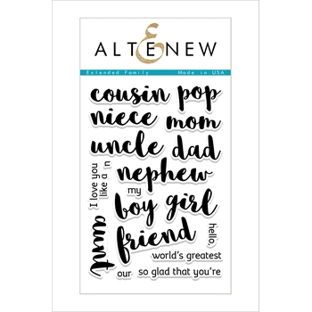 RESERVE Altenew EXTENDED FAMILY Clear Stamp Set