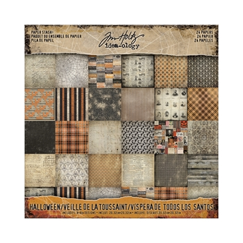 Tim Holtz Idea-ology 8 x 8 Mini Paper Stash HALLOWEEN Paperie TH93595