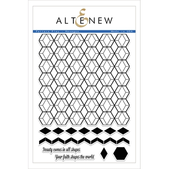 RESERVE Altenew PATTERN PLAY HEXAGON Clear Stamp Set