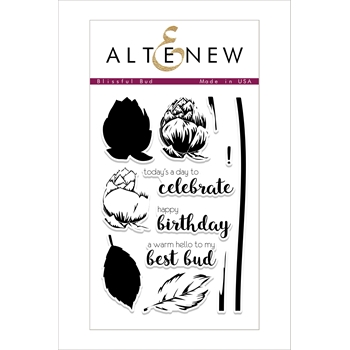 Altenew BLISSFUL BUD Clear Stamp Set