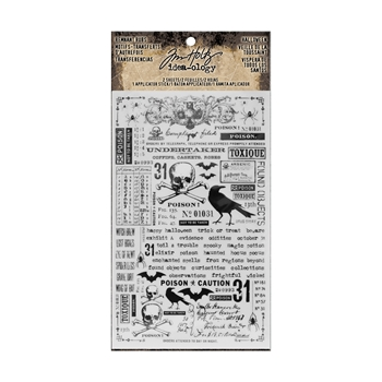 RESERVE Tim Holtz Idea-ology HALLOWEEN Remnant Rubs TH93604
