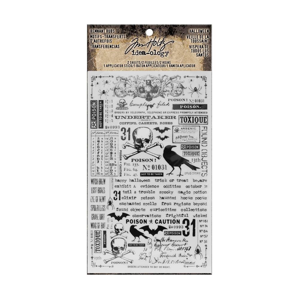 Tim Holtz Idea-ology HALLOWEEN Remnant Rubs TH93604 zoom image