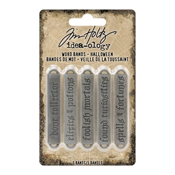 RESERVE Tim Holtz Idea-ology HALLOWEEN Word Bands Findings TH93605