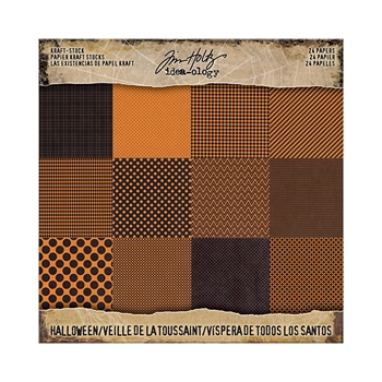 RESERVE Tim Holtz Idea-ology 8 x 8 Paper Stash KRAFT HALLOWEEN Paperie TH93609