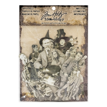 Tim Holtz Idea-ology PAPER DOLLS ANCESTORS Paperie TH93610