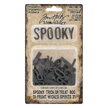 RESERVE Tim Holtz Idea-ology TYPOGRAPHY HALLOWEEN Findings TH93611