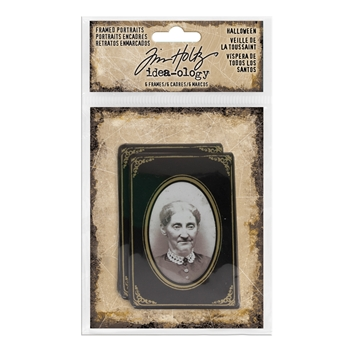 RESERVE Tim Holtz Idea-ology FRAMED PORTRAITS HALLOWEEN TH93616