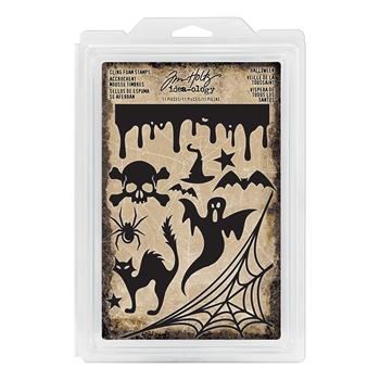 RESERVE Tim Holtz Idea-ology HALLOWEEN Cling Foam Stamps TH93617
